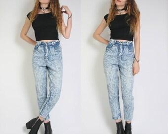 90s acid wash jeans | Etsy