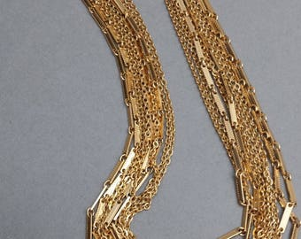 gold tone multiple chain Sarah Conventry necklace