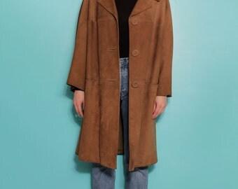 Suede coat (M)