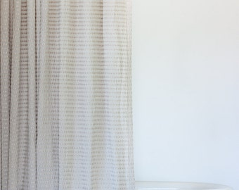 Natural Fabric Shower Curtain