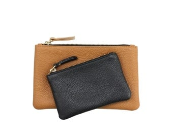 Leather Wallet Clutch / Leather Pouch