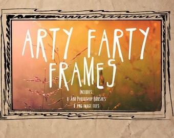 Grunge Frames & Photoshop Brushes - Arty Farty Grunge Doodle Frames - Photo Frames and Overlays