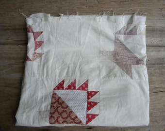 Antique Quilt Top Hand Stitched / Late 1800's Basket Quilt Top / Vintage Quilt Top / Vintage Decor