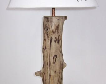 Unique Driftwood Table Lamp, Natural rustic decor