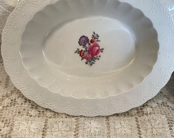 "Antique  Copeland Spode Jewel 10 inch Oval Serving Bowl- ""Claudia""- HTF"