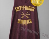 Gryffindor Quidditch Shirt Harry Potter Shirt Tanktop Unterhemd Tunika TShirt T Shirt