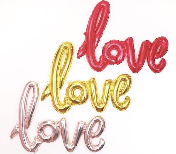 40 inch love cursive letter balloons mylar balloon for Cursive letter balloons