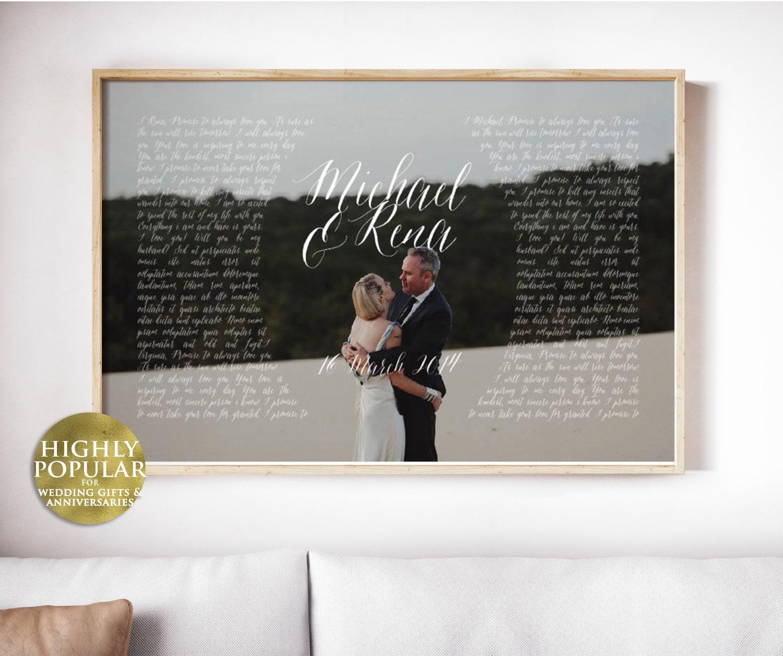 Wedding Vow Gifts: 1st Anniversary Gift Vows Wedding Vows Paper Anniversary