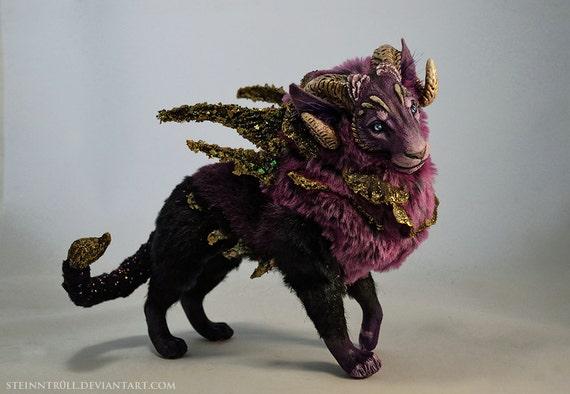 Royal Nebula Manticore OOAK art doll