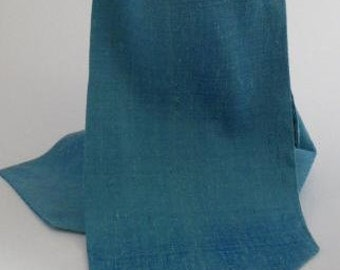 Long, Teal, Pure Silk, Dupion,  Cravat