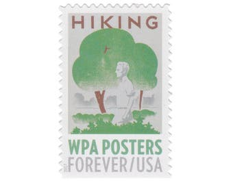 10 Unused Postage Stamps - 2017 49c Forever WPA Posters Series - Hiking