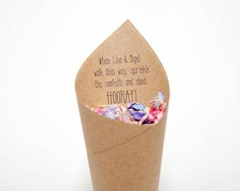 NEW STYLE Hooray Confetti cones Pack of 5