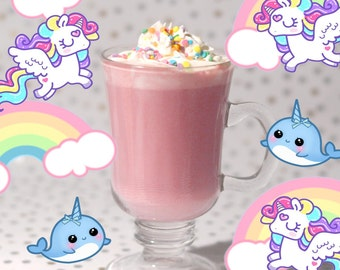 Unicorn Magic - Gourmet Hot Chocolate - Organic - VEGAN - Berry - Coconut - Rainbow Sprinkles