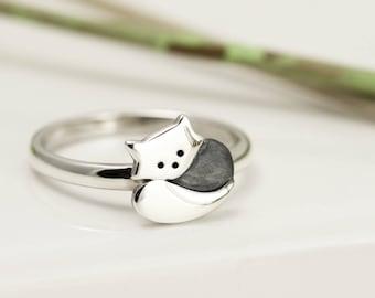 Sterling Silver Red Panda Ring - Red Panda Jewellery