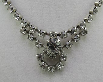 Rhinestone Necklace c1960s