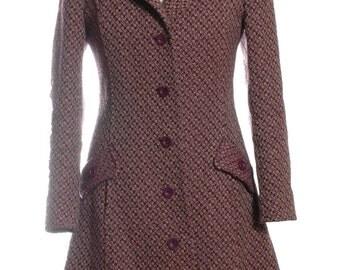 Vintage 1960's Habro Purple Swing Coat 10 - www.brickvintage.com
