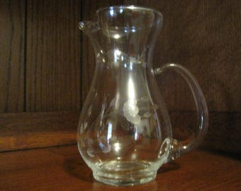 Vintage Etched Pitcher