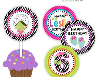 CT2-013: DIY - Zebra Print Spa 2 Cupcake Toppers