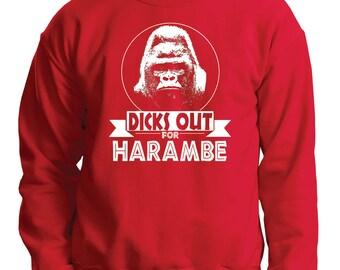 Harambe Sweater Funny Harambe Sweatshirt Christmas Gift