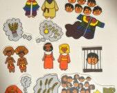 Joseph and Colorful Coat, Felt Board, Flannel Board, Felt Set, Homeschool, Bible Story, Sunday School, Felt Story, Christian Felt,