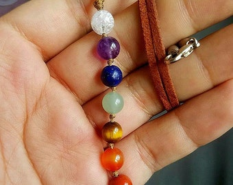 Chakra Necklace, Chakra Gemstone Necklace, Chakra Pendant, Chakra Jewelry, Gemstone Chakra, Yoga Jewelry, Healing Necklace, Yoga Jewelry