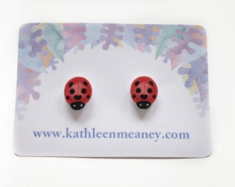 Ladybird stud animal earrings