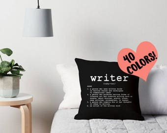 Writer Definition Pillow, Writing Quote Pillow, Writer Quote Pillow, Writing Pillow, Writer Pillow, Write Pillow, Writer Gift, Writing Decor
