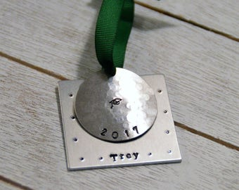 Graduation Ornament with Grad name and year