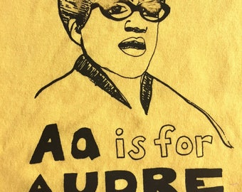 Feminist Shirt SALE- TEST/MISPRINT - Audre Lorde Adult Ladies Cut Large