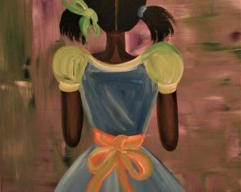 Black American Original African American art painting by Valencia