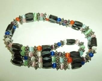 Magnetic Hematite Moon glow wrap Bracelet