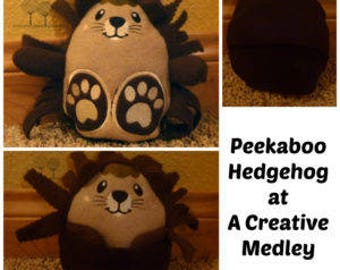 Peek A Boo Hedgehog,PeekABoo Animal,  Plush Hedgehog,Stuffie,Stuffed,Plush Animal