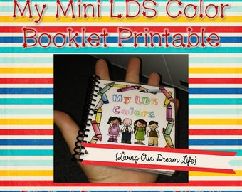 My Mini LDS Color Quiet Book/ File Folder Game