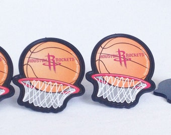 12 Houston Rockets Cupcake Rings NBA Basketball Toppers Party Favors