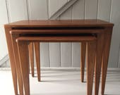 Mid Century TABLE Nest TEAK Wood Gordon Russell Vintage 1950 Coffee Table Mid Century Modern