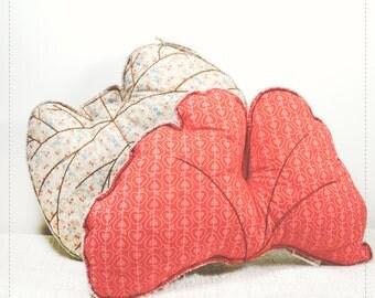 Leaf shaped pillows, Judas Tree leaf cushion and Ginkgo Biloba leaf cushion