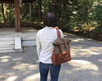 convertible backpack purse FREE GIFT | womens backpack | army backpack | vegan backpack | travel backpack | messenger backpack | laptop tote