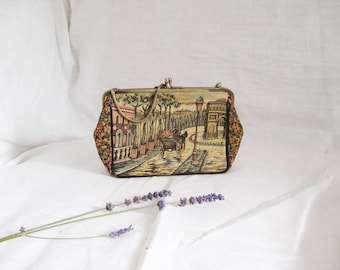 60s Paris Arc de Triomphe Clutch