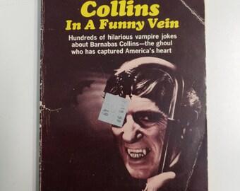 Dark Shadows Barnabas Collins In a Funny Vein Paperback Library 1969 Vintage Horror TV Tie-In Joke Book