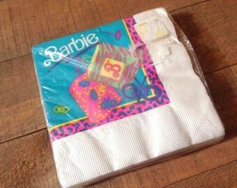 1990s Barbie Napkins, Vintage Barbie Party Supplies, Barbie Birthday Party, Vintage Barbie