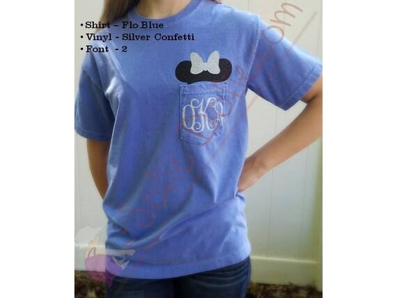 minnie mouse shirt  disney shirt  pocket shirt  short sleeve