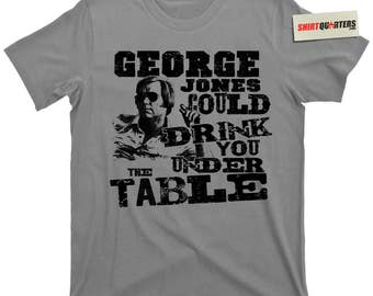 George Jones I Don't Need Your Rockin Rocking Chair Walls Can Fall Cold Hard Truth Country Western Music Jim Beam Jack Daniels drunk T Shirt
