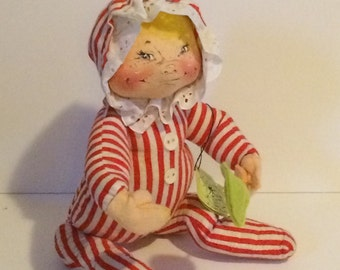 Vintage Annalee Christmas Baby with a Lollipop