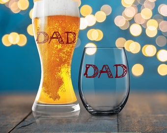 Dad Glass, Dad Tools Glass, Beverage Cold Brew Father, Dad Wine Glass, Dad Beer Glass, Cool Dad, Dad Mug, Father Coffee