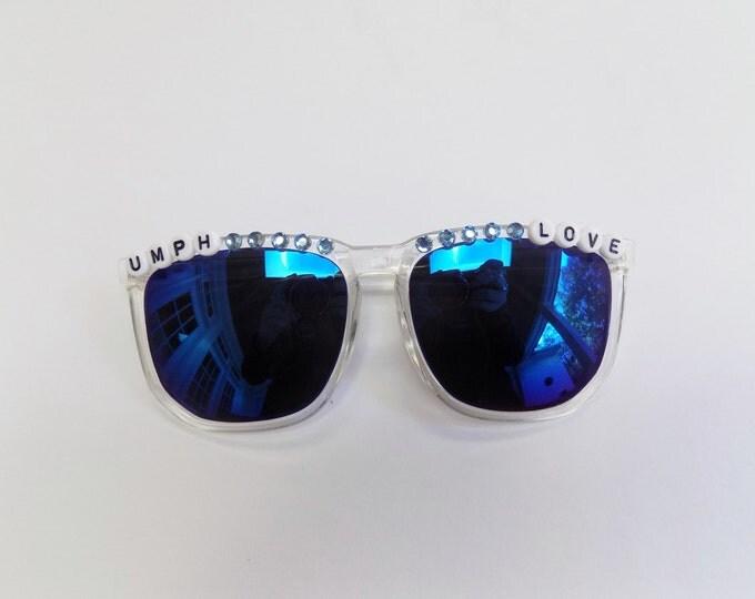 "Umphrey's Mcgee ""Umph Love"" hand decorated sunglasses, Umphreak shades perfect for festivals"