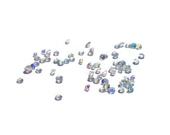 10 or 20-Pack of Pixie Dust-AB Clear Crystals for Floating Lockets-1.2mm-April Birthstone-Gift Idea