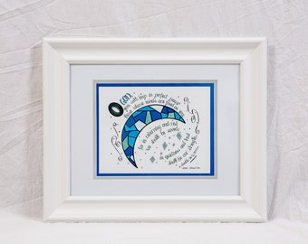 Framed Calligraphy: O God you keep in perfect peace