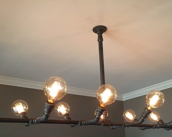 Industrial Pipe Chandelier. The Winslow