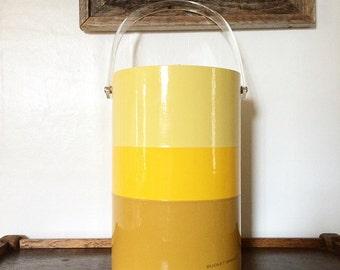 Vintage Mod Yellow Ice Bucket