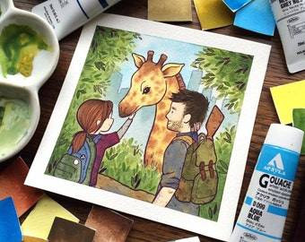 The Last Of Us Watercolor Print by Michelle Coffee